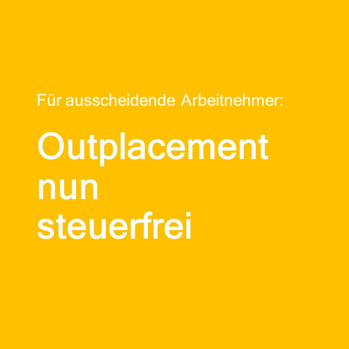 Outplacement-Beratung steuerfrei